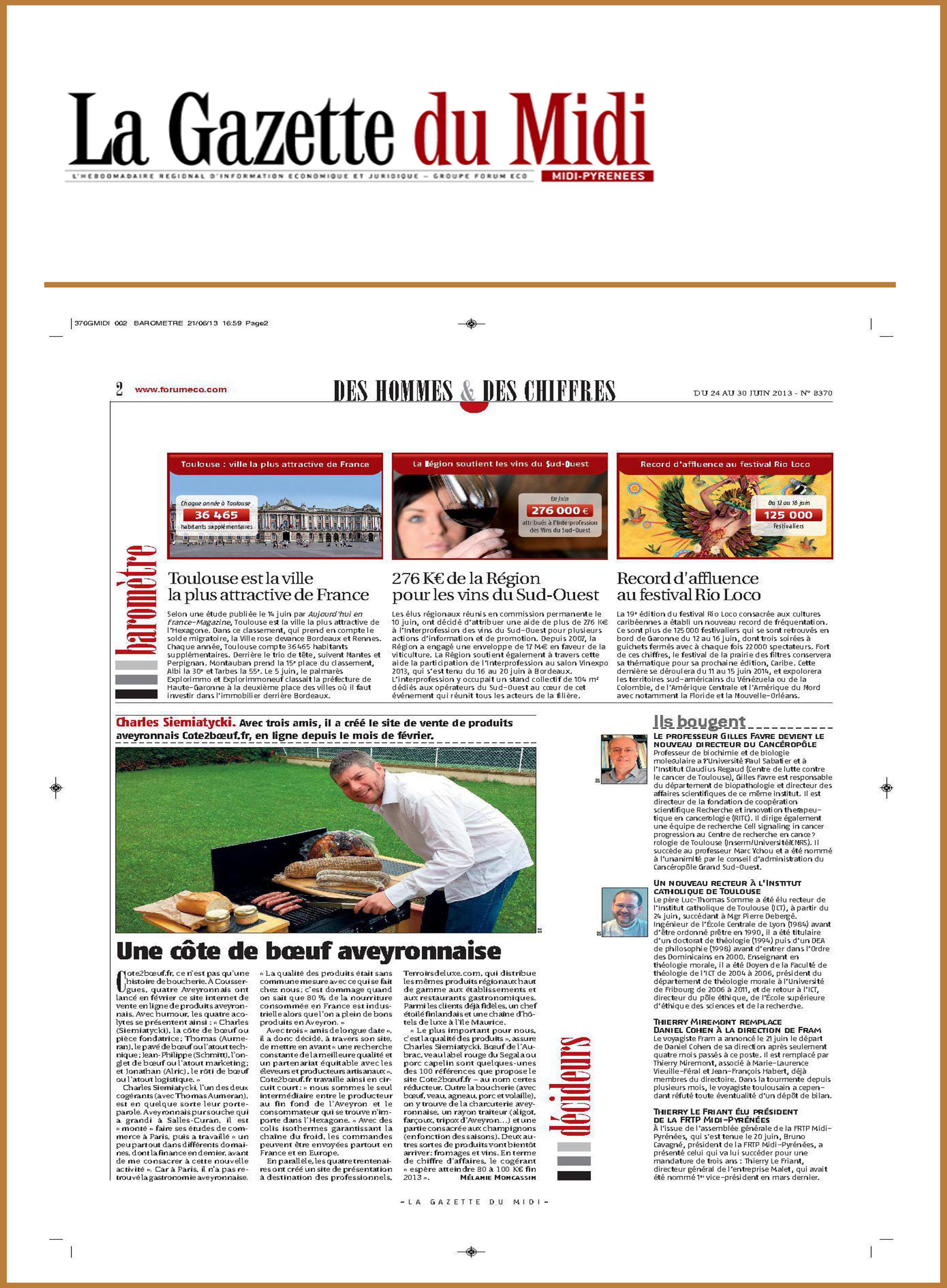 Article Gazette du midi