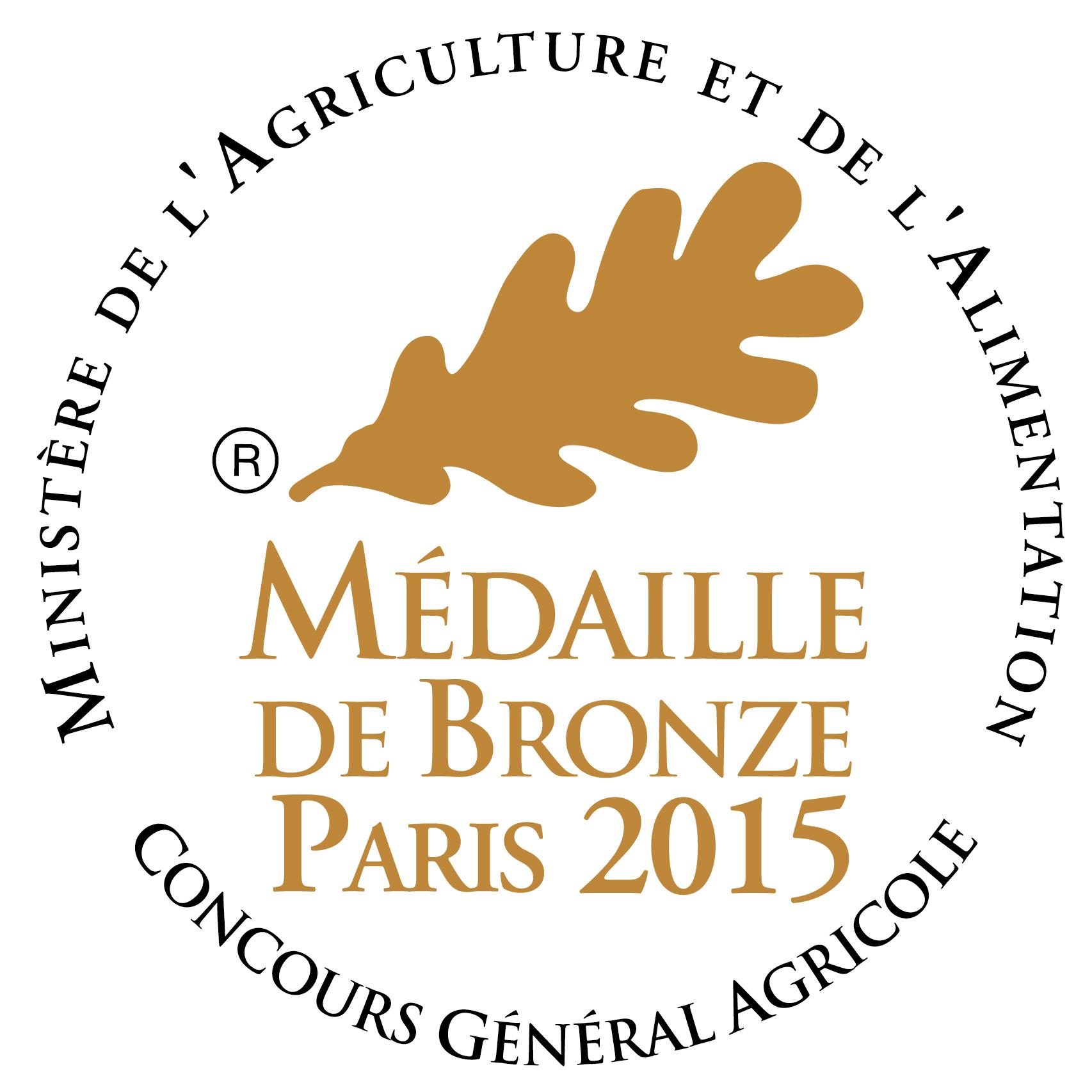 medaille de bronze concours generale agricol 2015