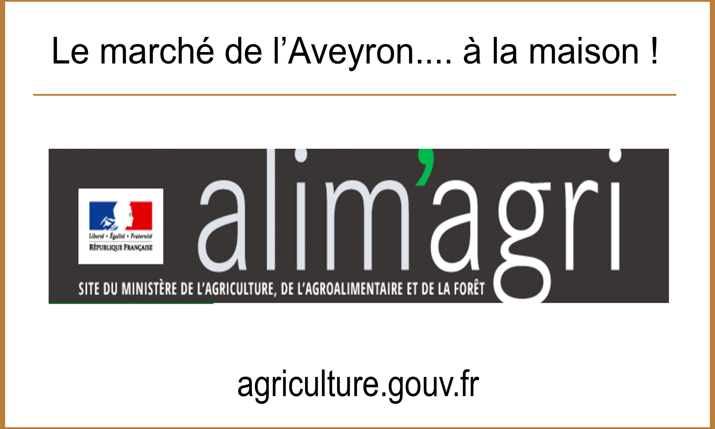 Article Ministere agriculture