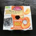 Yaourts BIO Abricot de la Drôme - 4 x 125g