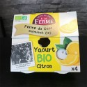 Yaourts BIO Citron -‐ 4 x 125g