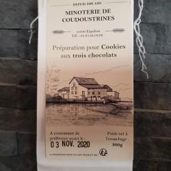 Préparation pour cookies aux 3 chocolats 300g