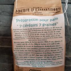 Préparation pain 7 céréales 7 graines 1kg