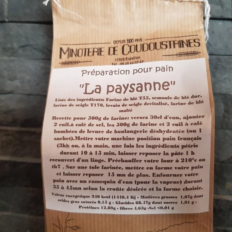 """Préparation """"paysanne"""" pour pain de campagne 1kg"""