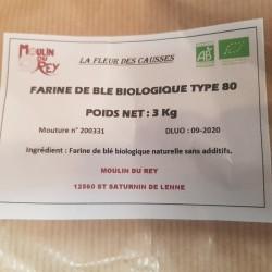 Farine bio T80 3kg