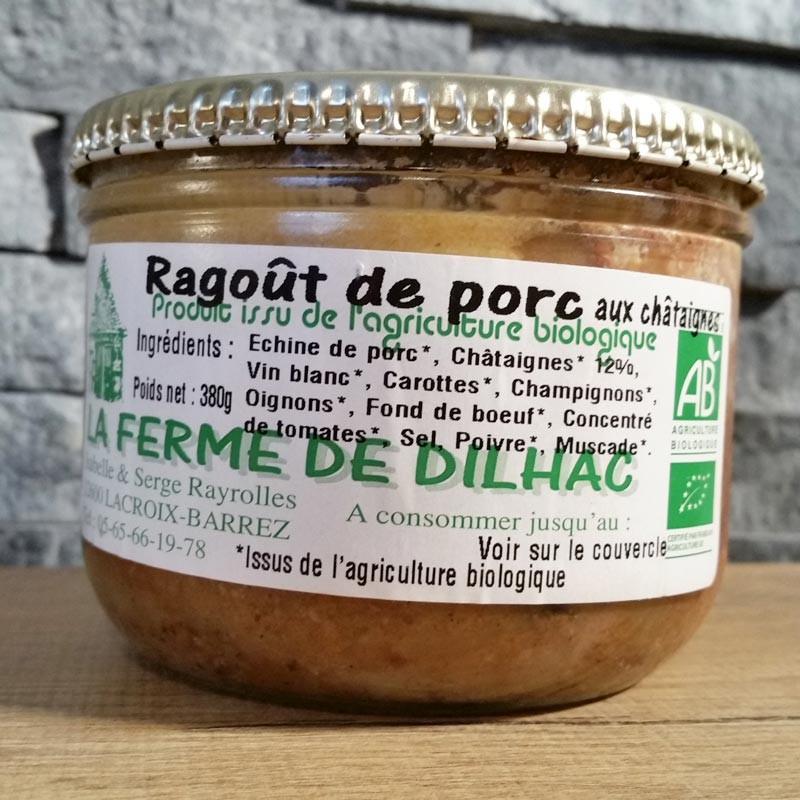 Ragoût de Porc Bio 380g