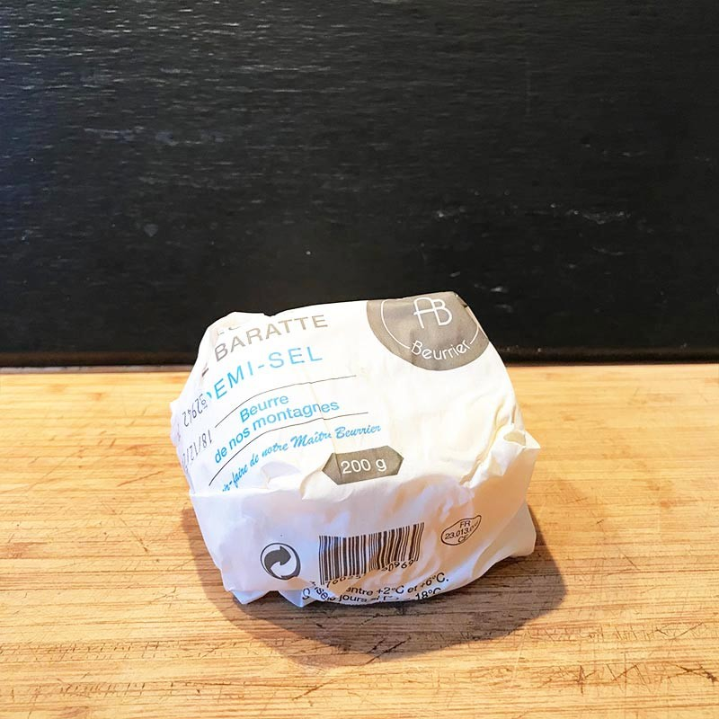 Beurre de baratte demi sel pasteurisé