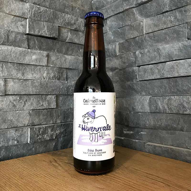 L'hivernale, bière paysanne bio brune