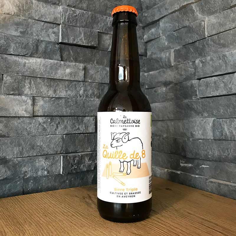 La Quille de 8, bière paysanne bio blonde