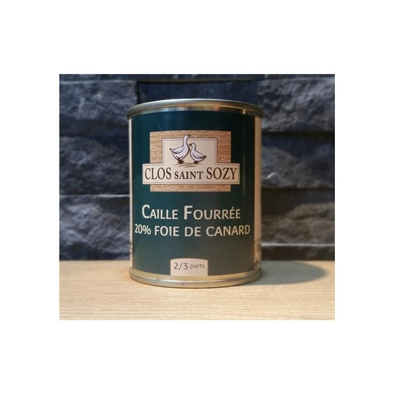 Caille fourrée au foie gras