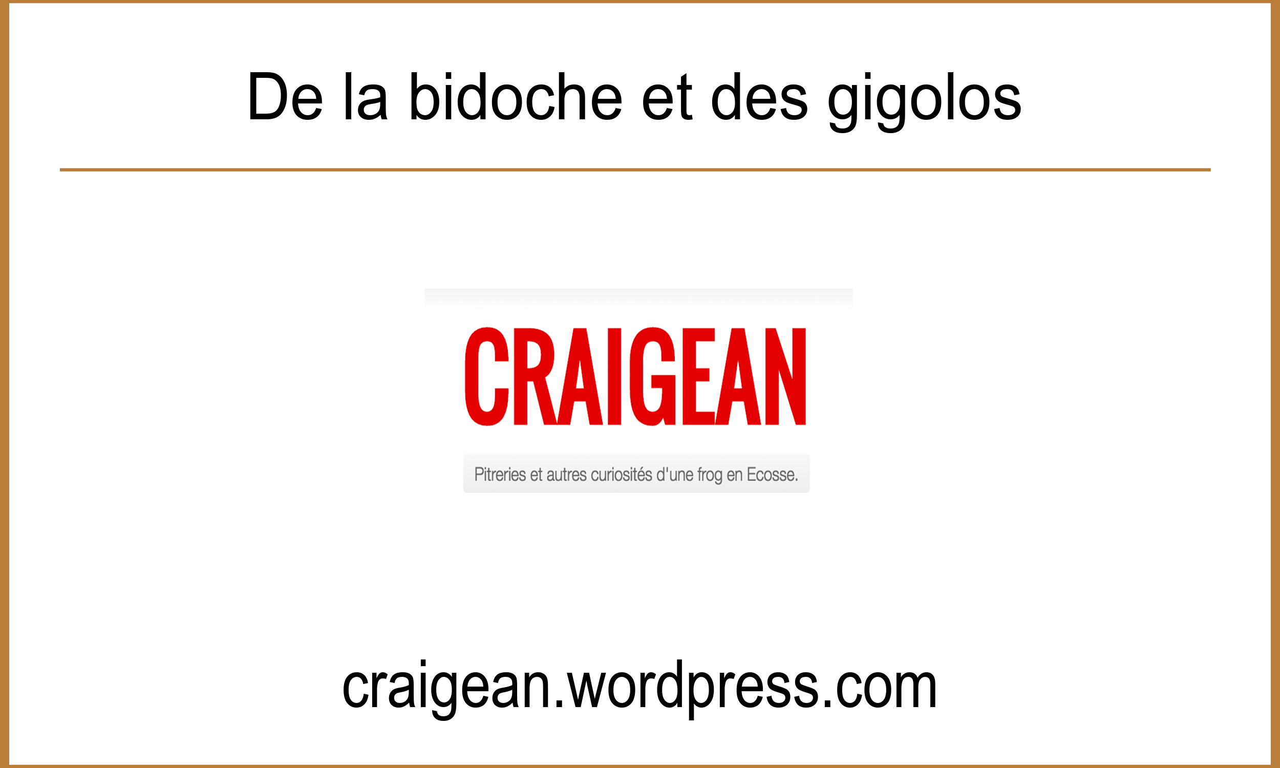 Article Craigean