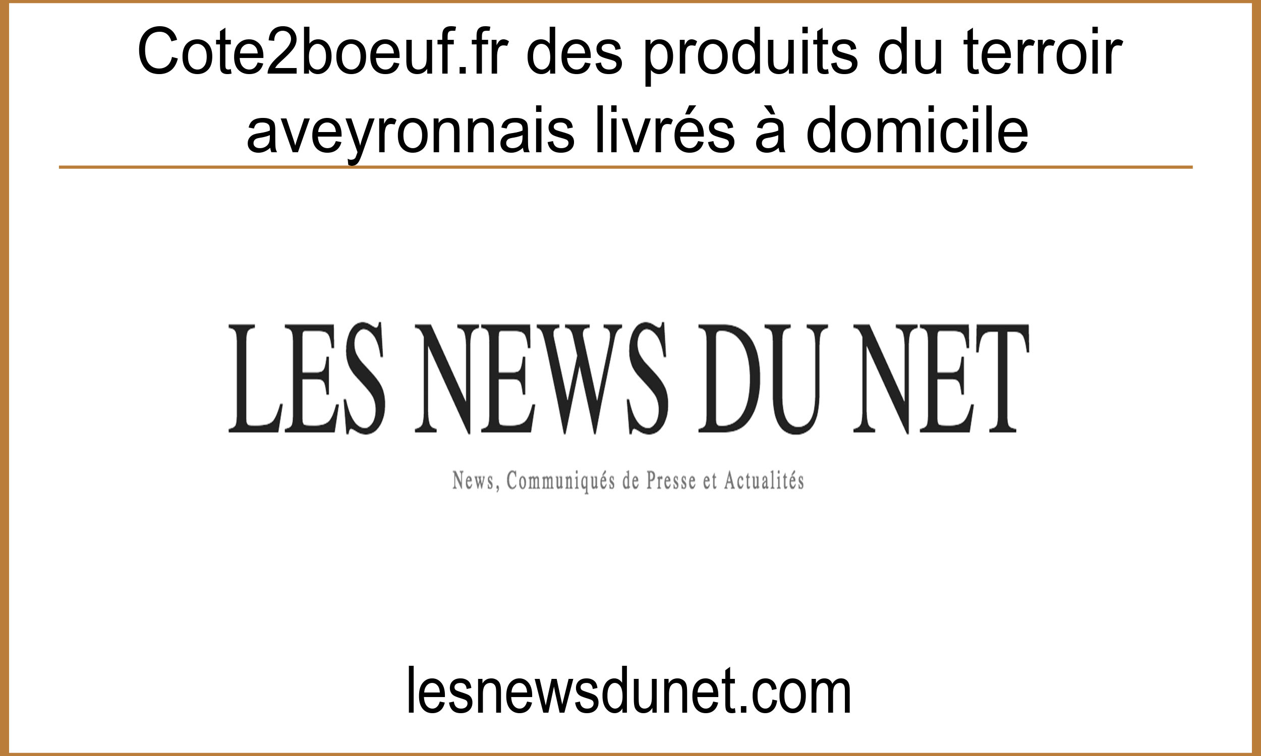 Article Les news du net