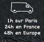 Livraison en 1h sur paris 24h en france 48h en europe